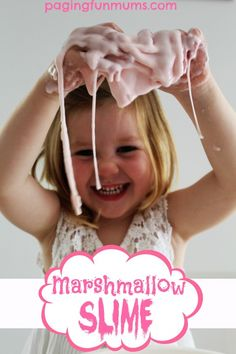 Marshmallow Slime - a fantastic sensory activity that looks delicious!