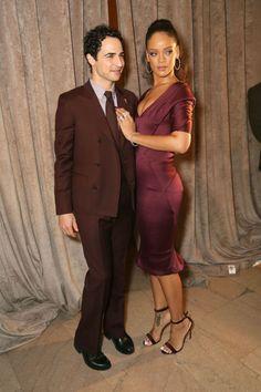 Rihanna in Zac Posen with the designer