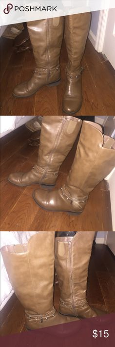 Brown Riding Boots Worn only a few times. Only selling because I have so many pairs of boots and I need space in my closet. In good condition. Shoes