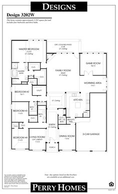 One story house plan. I love this layout.