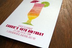 Cocktail Invitation - Birthday/Hen do/Bridal Shower