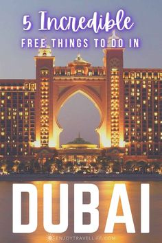 Dubai can be pricey, but you'll find plenty of things to do in Dubai for free! Start by Including these 5 free attractions in your itinerary. #enjoytravellife #dubai #uae