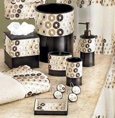 fancy creative sea world pattern 5-piece bathroom accessories