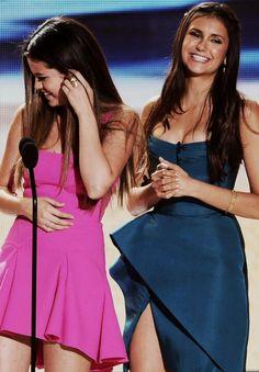 Two gorgeous girls. Selena Gomez & Nina Dobrev. <3