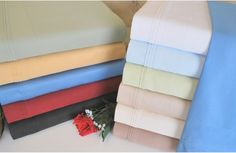 650 Thread Count Egyptian Cotton Solid Sheet Set - Bed Sheets at Hayneedle $79.99 King Sz.