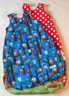 DIY summer baby sleeping bag / sleep sack No pattern just the idea (use winter sleep sack as template for Lilly