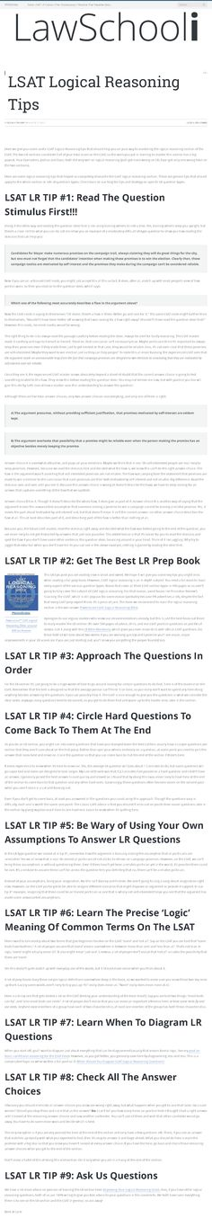 Week 1 of my lsat study schedule get the day by day lsat study free info on all government grants u fandeluxe Gallery
