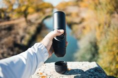 Make espresso wherever you go with Minipresso portable espresso maker!  Photo by: Brodie Vissers #espressoanywhere #giftideasforcoffeelovers #giftideasforoutdoorlovers #espressomaker #portableespressomaker #minipresso #giftideas #giftideasfordads
