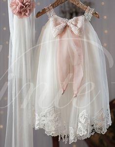 47ebdd9d2 Christening Dress Baby Girl Baptism Birthday Dress by PJbydesign Girls Baptism  Dress, Baby Baptism,