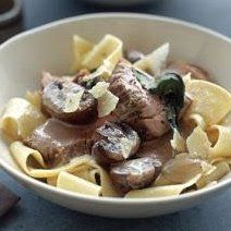 Roasted Pork Tenderloin with Pappardelle Pappardelle Recipe, Pappardelle Pasta, Pork Recipes, Pasta Recipes, Simple Green Salad, Roasted Pork Tenderloins, Pork Roast, Fabulous Foods, Pasta Dishes