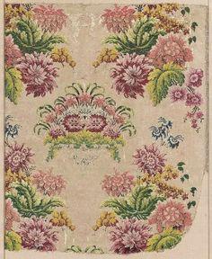 French, 18th C, Silk Brocade fragment   Museum of Fine Arts, Boston