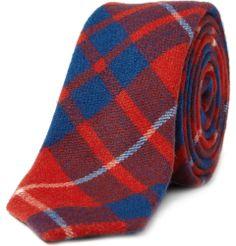 Alexander Olch plaid wool tie