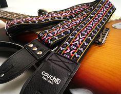 Vintage Woven Deadstock Hippie Multi Colored Guitar Strap ...