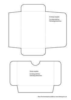 Free mini envelope and pocket printable - great for letter writing, journalling and scrapbooking.