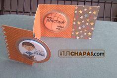 Tarjeta Comunión con dos imanes www.atutichapas.com