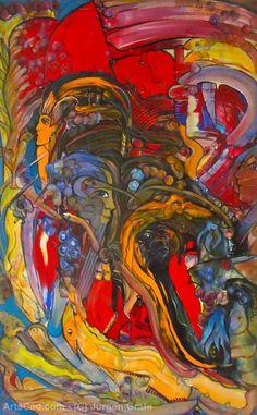 Artwork >> Jürgen Grafe >> ETERNAL CYCLE  #artworks, #masterpiece, #oiloncanvas, #bright, #cycle
