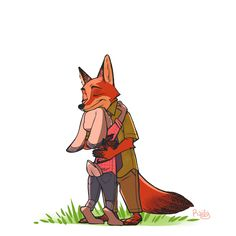 """""""In Zootopia, anyone can be anything."""" Watched Zootopia yesterday with my sister, omygod it was beautiful I nearly teared my eyes out. Disney And Dreamworks, Disney Pixar, Disney Ships, Disney Facts, Nick Y Judy, Toy Story Dolls, Disney Duos, Eyes Closed, Zootopia Fanart"""