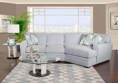 Kane's Furniture - Poseidon II 2Pc Sectional Raf Cuddler