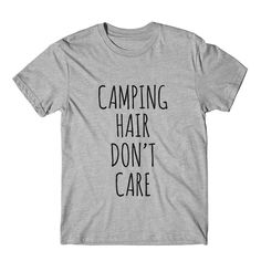 Camping Hair Don't Care Graphic Tshirt Womens Graphic by FASHIONY