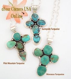 Chunky Turquoise Cross Jewelry Four Corners USA OnLine Native American Treasures http://stores.fourcornersusaonline.com/news/turquoise-cross-pendants/
