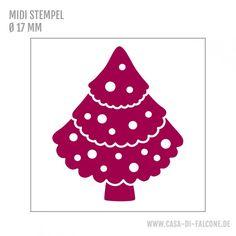 MIDI Motivstempel Tanne getupft - Casa di Falcone