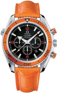 omega seamaster in orange - swiss made watches