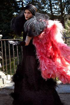 Fernando Claro Haute Couture on Behance Art Direction, Fashion Art, Fur Coat, Fashion Photography, Tulle, Skirts, Flamingo, Behance, Haute Couture