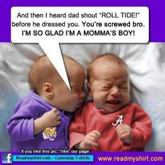 It's so sad to see a house divided Poor Bama Be Be LOL