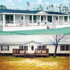 Mobile Home Redo, Mobile Home Porch, Mobile Home Exteriors, Mobile Home Renovations, Mobile Home Makeovers, Mobile Home Living, Remodeling Mobile Homes, Home Upgrades, Home Remodeling