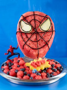 How to carve a Watermelon Spiderman