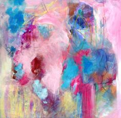 "Abstract Expressionist Painting Colorful Modern Art ""Sweet on the Tongue"". $150.00, via Etsy."