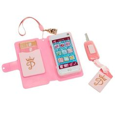 Disney Princess Style Collection Wristlet with Toy Smartphone Image 3 of 7 American Girl Doll Room, American Girl Parties, American Girl Stuff, American Girls, Poupées Our Generation, Little Girl Toys, Baby Girl Toys, Girls Toys, Accessoires Barbie