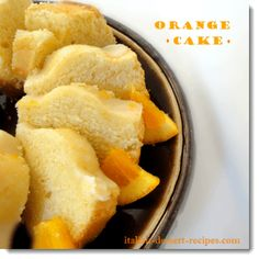 Orange Cake. A coffee-dunking type cake made with fresh oranges.