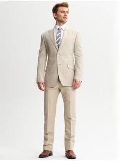 SKU#TSM02 Men\'s 100% Linen Suit in Tan $249 | MensITALY | Les\'s Suit ...