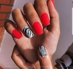 Beauty Hacks Nails, Nail Art Hacks, Palm Tree Nails, Latest Nail Designs, Cow Nails, Lavender Nails, Nail Tattoo, Funky Nails, Girls Nails