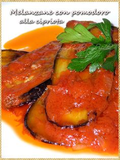 Melanzane con pomodoro alla cipriota (Eggplant with tomato and cinnamon recipe Cyprus)