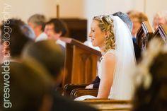 Bride smiles during a reading at St John Flower Girl Dresses, Wedding Photography, Bride, Reading, Wedding Dresses, Fashion, Wedding Bride, Bride Dresses, Moda