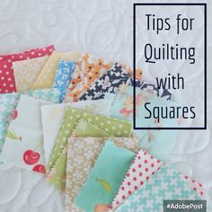 A Quilting Life - a quilt blog: 5 Tips for Quilting with Squares
