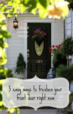If the eyes are the window to the soul, then the door is the proverbial window to your home. The door is one of the first things that people notice when they come to your home. Freshening up your door makes your home look more inviting to those passing by as well. You do not need to invest a fortune in order to achieve that welcoming look. Read on as eBay is sharing five easy ways to freshen your front door right now.