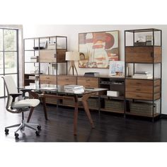 Knox Tall Open Bookcase | Crate and Barrel