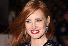 Ruivas, como Jessica Chastain, podem usar batom vermelho (Foto: Getty Images)