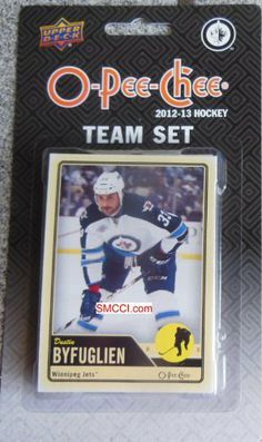 Winnipeg Jets 2012 / 2013 O Pee Chee Hockey Brand New Factory Sealed 17 Card Team Set Made By Upper Deck Including Zach Bogosian, Ondrej Pavelec, Dustin Byfuglien, Alexander Burmistrov, Andrew Ladd, Blake Wheeler, Bryan Little, Evander Kane, Nik Antropov, Jim Slater, Tobias Enstrom, Mark Stuart, Olli Jokinen, Kyle Wellwood, Al Montoya, Ron Hainsey and Grant Clitsome. by Winnipeg Jets Team Set. $7.99. Winnipeg Jets 2012 / 2013 O Pee Chee Hockey brand new factor...