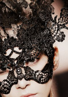 black lace mask.... looking for ideas for a costume party I am going to...