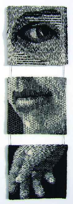 "Lany Eila (USA) ""First Impression"" 17"" x 5"" woven tapestry, STI 1"