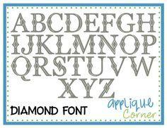 diamonds embroidery font - Google Search