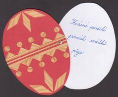 Kraslice - přání zdobená tapetou