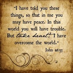 In this world, you WILL have trouble. it's a certainty. But we won't lose heart because Jesus is more powerful than anything the world throws at us. Bible Verses Quotes, Bible Scriptures, Faith Quotes, Biblical Quotes, Robert Kiyosaki, Steve Jobs, Affirmations, In This World, John Maxwell