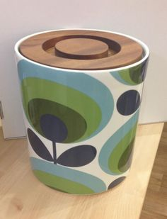 Orla Kiely Bread Bin | 70s Oval Flower from illustratedliving.co.uk