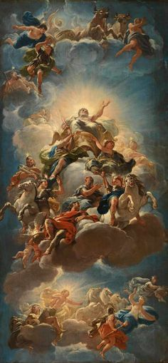 Apotheosis of the Medici - Luca Giordano Wallpaper Pastel, Angel Wallpaper, Aesthetic Pastel Wallpaper, Tumblr Wallpaper, Cartoon Wallpaper, Aesthetic Wallpapers, Wallpaper Backgrounds, Renaissance Paintings, Renaissance Art
