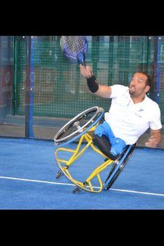 Twitter / emocionante: Exhibición de pádel sobre ruedas    Padel wheelchair
